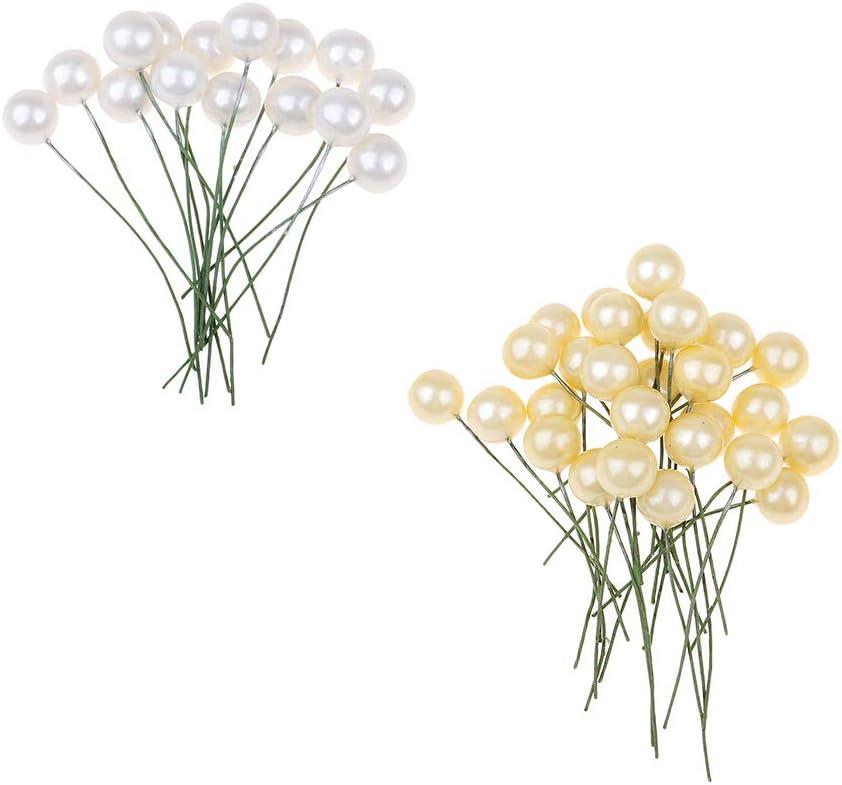 Centros de Mesa Blanco Flores de Pastel o Cualquier Otra Decoraci/ón * IPOTCH Forma de Bola de Espuma Hacer Ramos