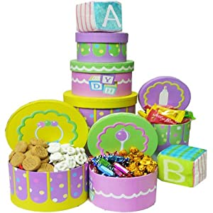 Art Of Appreciation Gift Baskets Congratulations Baby Gift Tower For Boys Or Girls by Art of Appreciation Gift Baskets