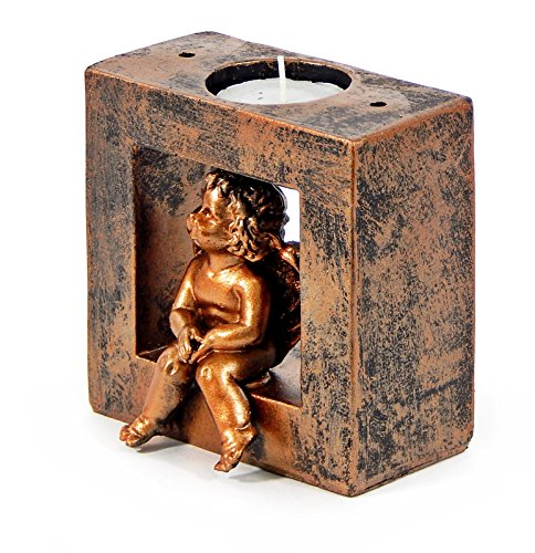 Home Decor Accessories - Baby Angel Tea Light Candle Stand 4 (Cherub Bookends)