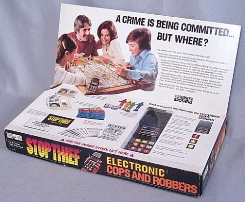 Vintage Stop Thief Electronic Cops and Robbers Board Game - 1980