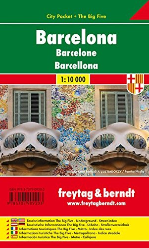 Freytag Berndt Stadtpläne, Barcelona, City Pocket + The Big Five, wasserfest - Maßstab 1:10 000