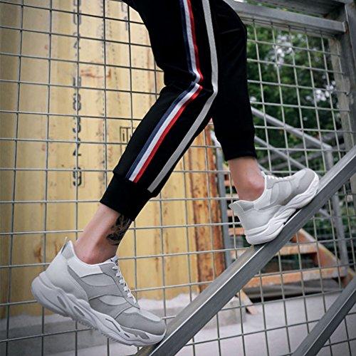 メンズ ランニングシューズ 衝撃吸収 厚底 ローカット スポーツ通気性抜群 滑り止め カジュアル 運動靴 白 黒 緑 レースアップ 通勤 通学 ファション 24.5cm-27.0cm 靴 メンズシューズ「ムリョ 」