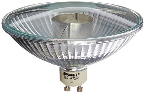 - Bulbrite 50R111GU/FL 50-Watt Halogen R111 Reflector, GU10 Base Flood Light