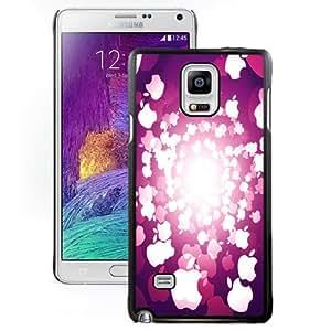 Fashion Custom Designed Cover Case For Samsung Galaxy Note 4 N910A N910T N910P N910V N910R4 Apple Bokeh Black Phone Case