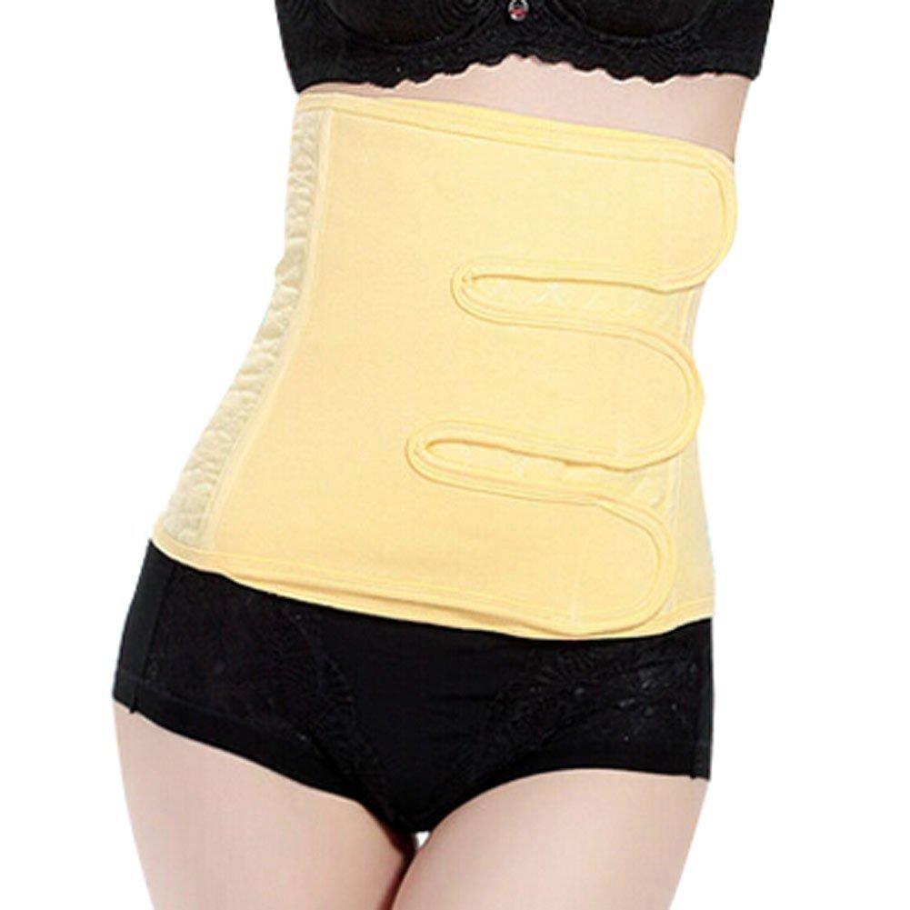 Eforstore Post Pregnancy Belly Band Postnatal Belt Waist Trimmer Abdominal Binder Wrap Slimming Shaper Postnatal Recoery Support Girdle Belts Wrapper for Women Maternity Natural Labor Cesarean Section Yellow (M)