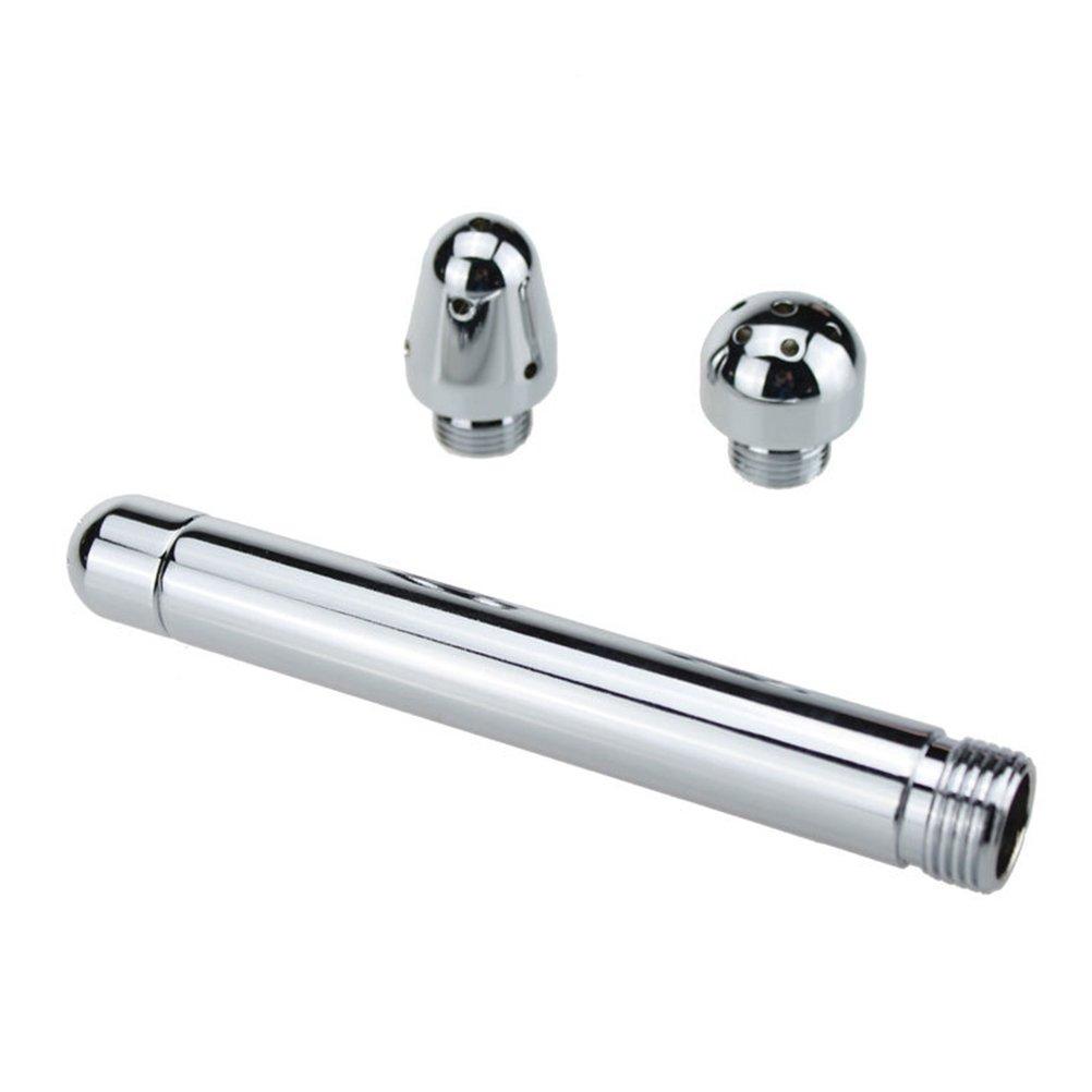 ROSENICE Enema Dusche Analdusche Enemator mit 3 Duschköpfe Für Männer (Silber)
