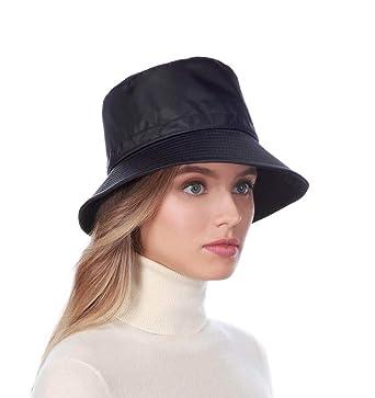 01b9091d789 Eric Javits Luxury Fashion Designer Women s Headwear Hat - Rain Bucket -  Black