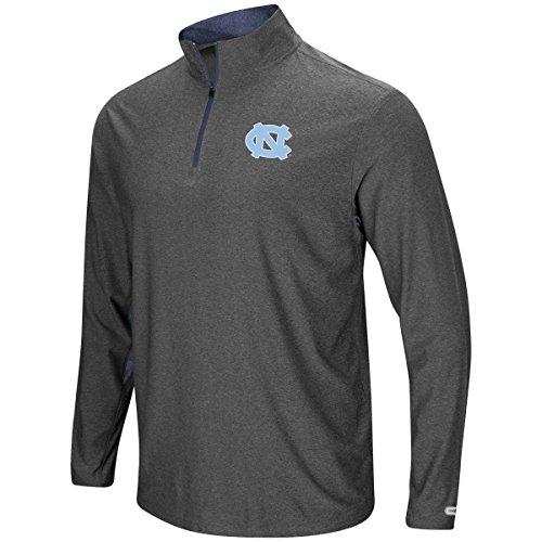 UNC Tar Heels Mens Grey Sweet Spot Pullover 1/4 Zip Synthetic Windshirt (Large)