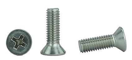 Amazon.com: Tornillos para máquina de cabeza plana de acero ...