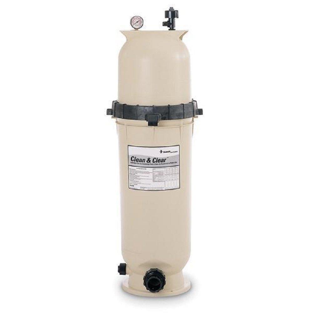 Pentair 160316 Clean & Clear Fiberglass Reinforced Polypropylene Tank Cartridge Pool Filter, 100 Square Feet, 100 GPM (Residential)