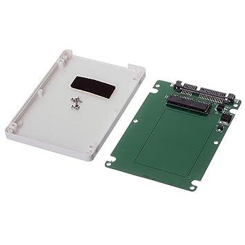 Tarjeta Micro Sata SSD Cablecc de 4,5 cm y 16 pines a carcasa de disco duro Sata de color blanco de 7 mm de altura y 22 pines (7 + 15)