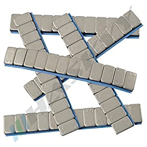 100 Balance weights 12x5g Adhesive weights 6KG Steel weights Adhesive strip 60g with TEAR-OFF EDGE zinc plated & plastic coated
