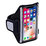 Sporteer Classic M6 Armband for iPhone X, iPhone 8/7/6S, Galaxy S8, Galaxy S7, S6, LG G6, G5, G4, Moto G5S, G5, Pixel, Pixel 2, Xperia XZ1/XZS, and MANY Other Phones (Strap Size Medium)