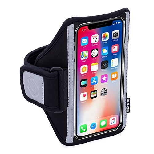 Sporteer Ultra-Thin Armband for iPhone Xs, X, iPhone 8, 7, 6S, Galaxy S10, S10e, S9, S8, S7, Google Pixel 3, Pixel 2, LG, Moto, Xperia, and Many Other Phones