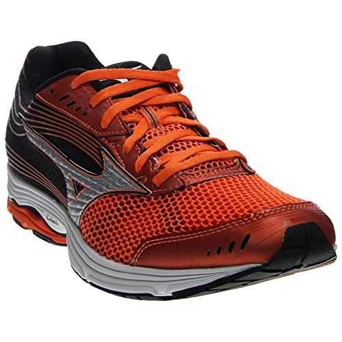 Mizuno Men's Wave Sayonara 3 Running Shoe, Vibrant Orange/Silver, 9.5 D US WAVE SAYONARA 3-M