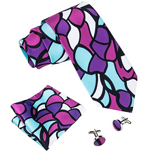 t Necktie and Pocket Suqare Set (Abstract Silk Tie)