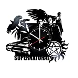 Supernatural Vinyl Wall Clock – Wall Art Room Decor Handmade Decoration Party Supplies Theme Birthday Gift – SuperPopular TV Series Handmade Art Decoration For Room – Vintage And Modern Style Review