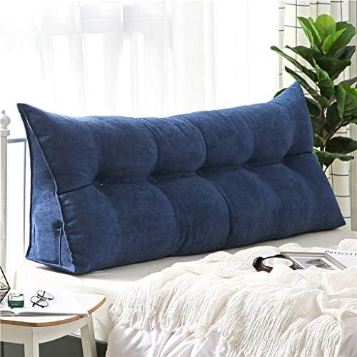 取り外し可能なカバー付きヘッドボード枕三角枕読書大ボルスターヘッドボード背もたれポジショニングサポートウェッジ枕のためにデイベッド二段ベッド (Color : Deep blue, Size : 150X50cm)