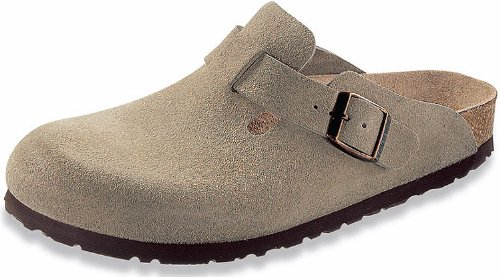 Birkenstock Boston Clog,Taupe Suede,44 N EU Boston