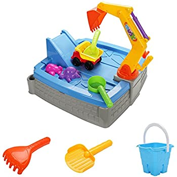 Costzon Kids Big Digger Sandbox Outdoor Play Set w/ Accessories