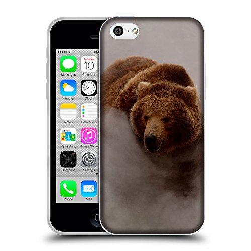 Just Phone Cases Coque de Protection TPU Silicone Case pour // V00004082 ours brun dans le brouillard // Apple iPhone 5C