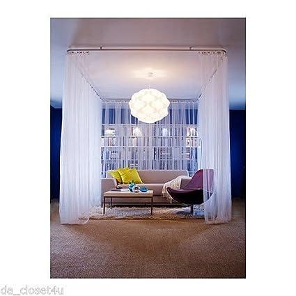 amazon com ship from usa ikea lill curtains sheer white 2 panels