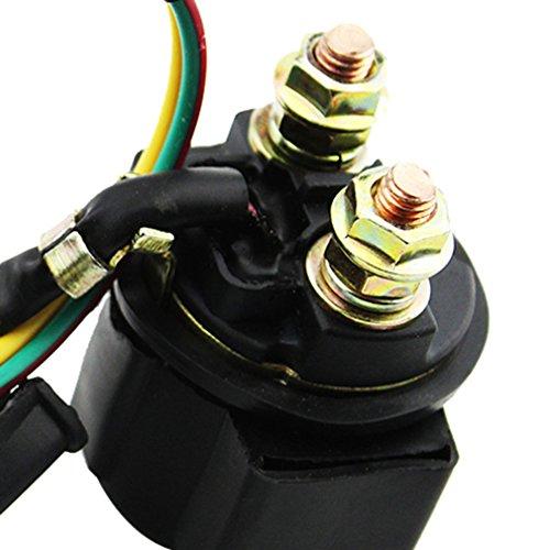 GOOFIT 2 Pin Starter Solenoid Relay for 50cc 70cc 90cc 110cc 125cc Taotao Kazuma Sunl ATV Dirt Bike Pocket Bike Go Kart