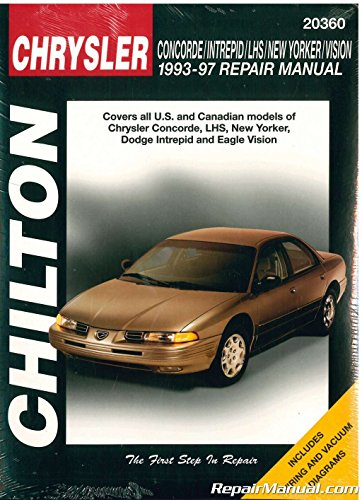 CH20360 Chilton Chrysler Concorde Intrepid New Yorker LHS Vision 1993-1997 Repair Manual