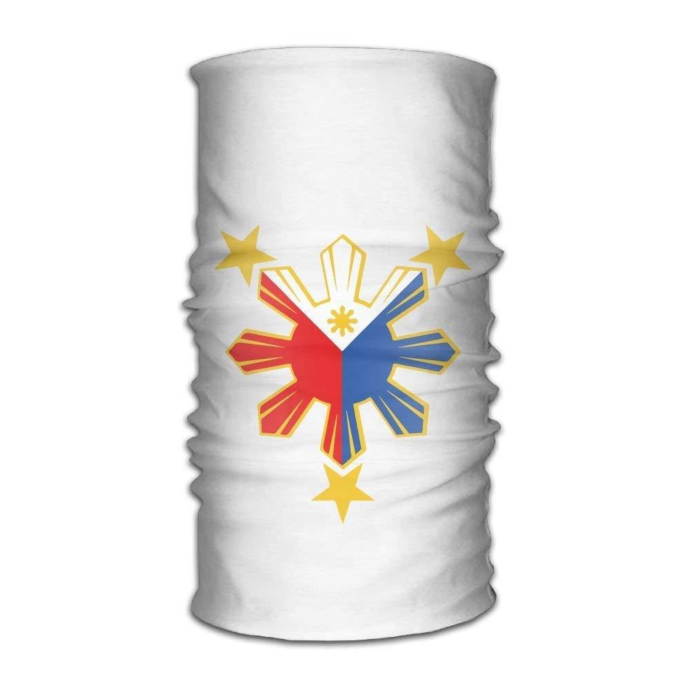 Jay94 Philippines Pride Star Flag Headwear Bandanas Seamless Headscarf Outdoor Sport Headdress Running Riding Skiing Hiking Headbands