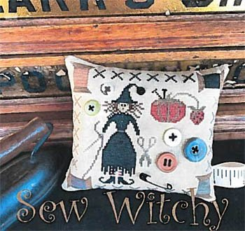 Sew Witchy Cross Stitch Chart and Free Embellishment by The Scarlett House