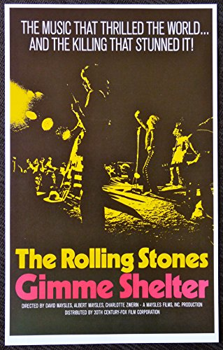 The Rolling Stones - Gimme Shelter - Rare Movie Advertising Poster