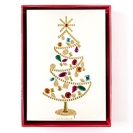 papyrus handmade glamorous tree holiday cards box of 8 5650373 - Papyrus Holiday Cards