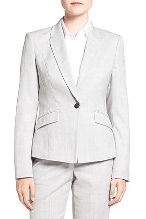 Hugo Boss Chaqueta de traje de lana jobina para mujer 12 Luna gris ...