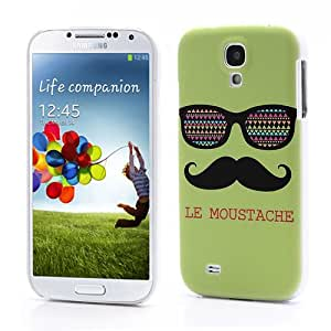 Slick Shell Le Moustache Green Funny Face Cool Dud in Printed Hard Case for Samsung Galaxy S4