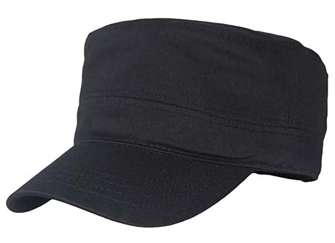 0fd24f9249a Gumstyle Men Women Military Army Style Hat Cap Flat Top Solid Color Black