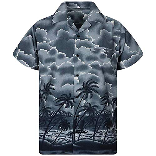 Hawaii Print Beach Top Men's Summer Casual Button