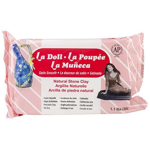 ACTIVA La Doll Natural Air Dry Stone Clay 1.1 pound (500g) (1600)