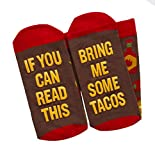 If You Can Read This Bring Me Socks - Beer, Wine, Bacon, Taco, Tea - Funny Socks for Novelty Gift - Men & Women (Taco)