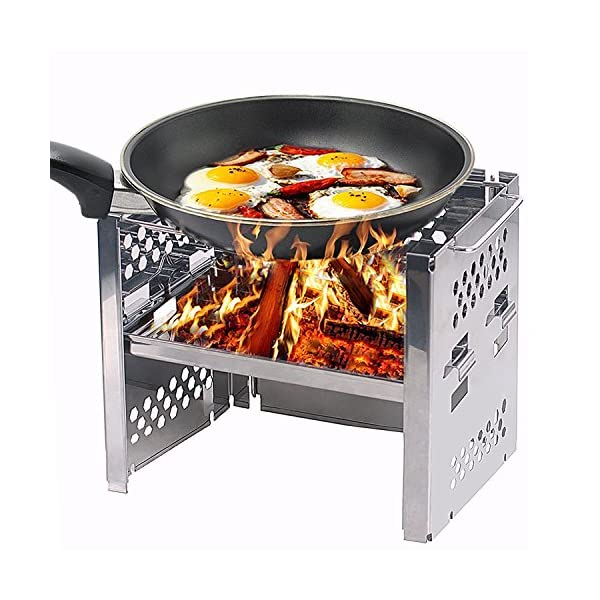 Unigear Wood Burning Camp Stoves Picnic BBQ Cooker/Potable Folding Stainless Steel Backpacking Stove 1
