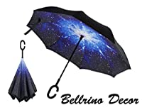 Inverted Double Layer Wind Proof,UV Proof Reverse Folding Travel Umbrella