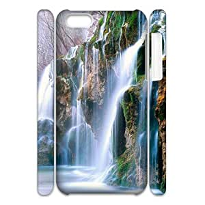 Cell phone 3D Bumper Plastic Case Of Waterfall For iPhone 5C