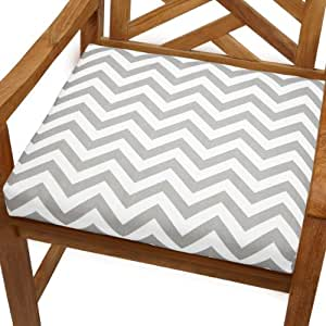 Mozaic Blair Indoor/Outdoor Chair Cushion, 20-Inch, Chevron Grey