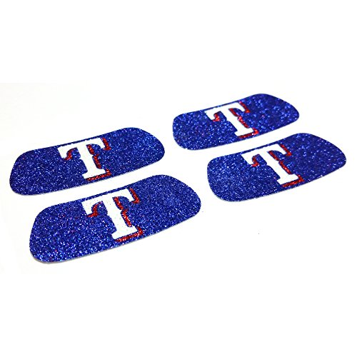 Texas Rangers Tailgate - EyeBlack Texas Rangers MLB Glitter Strips, Perfect for Game Day and Tailgate (4 Pairs/8 Strips)