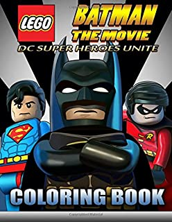 LEGO BATMAN The Movie Coloring Book For Kids DC SUPER HEROES UNITE 40 EXCLUSIVE