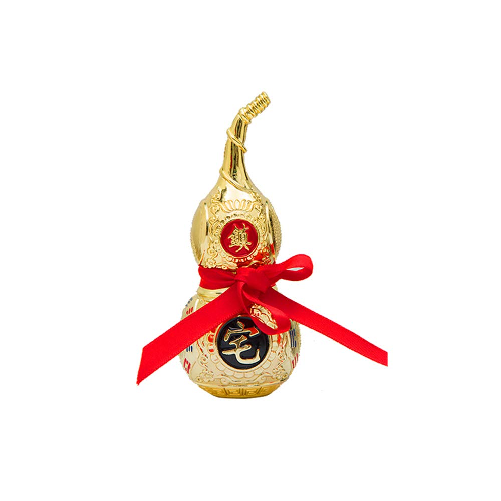 Large Handmade Alloy Colorful Good Luck Wu Lou//Hu Lu Gourd//Cucurbit for Wealth Peaceful Statue Charm Amulet Home Decor Gift