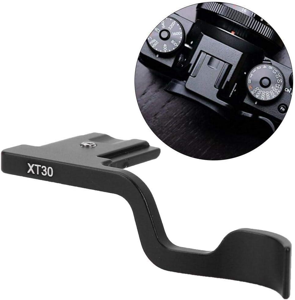 Thumb Hand Grip Handle Accessory Compatible Black Aluminum Alloy Metal with Fuji XT30 Camera LEKU Camera Hand Grip