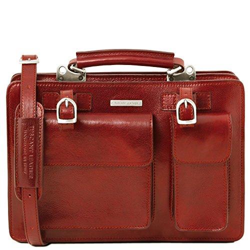 Sac Tuscany en cuir modèle Grand main Rouge Tania Leather à Rouge 7n76EqR