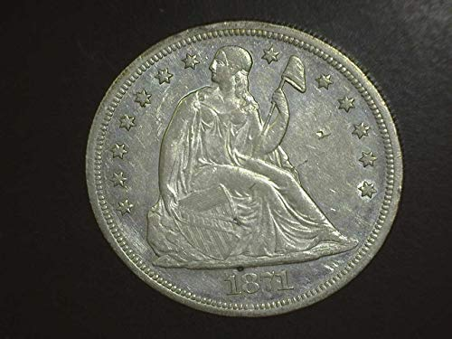 1871 Seated Liberty Silver Dollar - Exceptional Coin - Beautiful Strike $1 AU/UNC