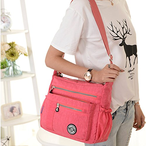 Waterproof Bag Cross Lightweight Bookbags Blue Body Casual Fashion Ladies Bag Messenger Bag Women Shoulder for 3 Foino pqOUxwE0