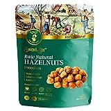 AZNUT Raw Hazelnuts Natural Non-GMO, Premium Quality, Gluten-free, Kosher Resealable Bag Snack&Joy sweet crunchy taste, Healthy Snack (16 0z)